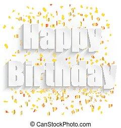 Happy birthday paper sign