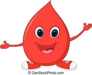 Happy Blood cartoon - Vector Illustration of Happy Blood...