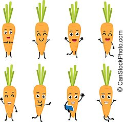 Happy Carrot cartoon character