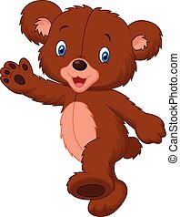 Happy cartoon baby bear