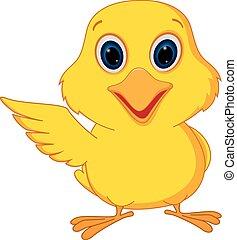 Happy chick cartoon