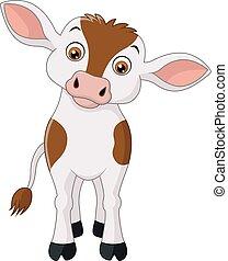 Happy cow cartoon