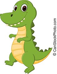 Happy Crocodile cartoon
