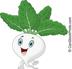 Happy daikon cartoon