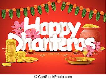 Happy Dhanteras wallpaper background