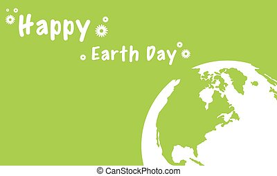 Vector illustration of happy earth day