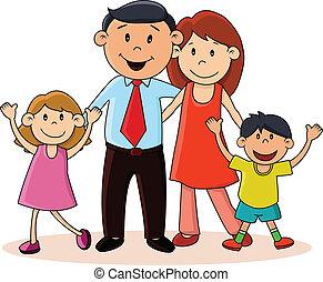 Happy family - Vector illustration of Happy family