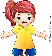 Happy girl cartoon
