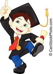 Happy graduate - vector illustration of Happy graduate