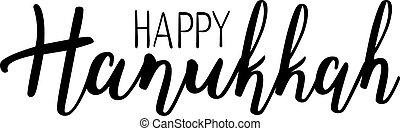 Vector illustration of Happy Hanukkah.