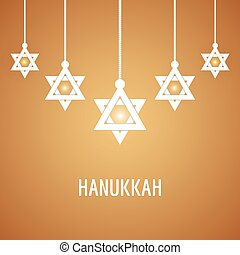 Vector illustration of Happy Hanukkah, Jewish holiday...