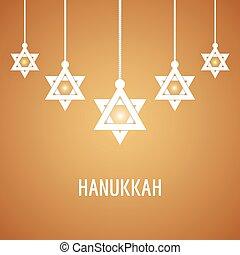 Vector illustration of Happy Hanukkah, Jewish holiday...