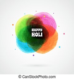 Happy Holi card template - Vector illustration of Happy Holi...
