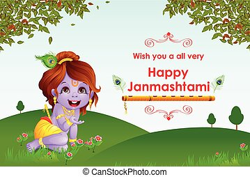 Happy Janmashtami wallpaper background