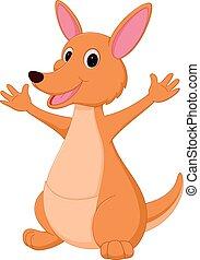 Happy Kangaroo cartoon