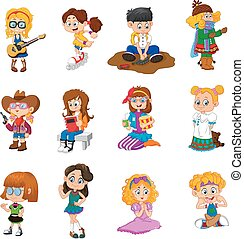 happy kid cartoon collection