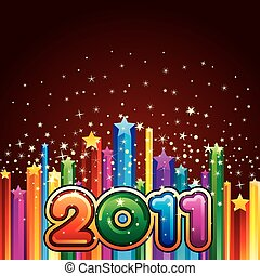 happy new year 2011 - vector illustration of happy new year ...