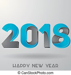 Happy New Year 2018 design