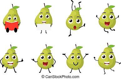 Happy Pear Cartoon Character