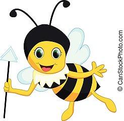happy queen bee cartoon