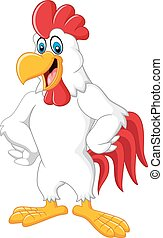 Happy rooster cartoon
