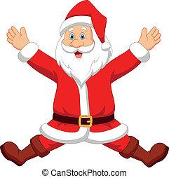 Happy santa cartoon - Vector illustration of Happy santa ...