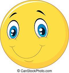 Happy smile emoticon