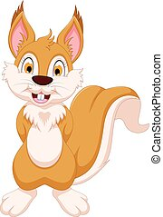 happy squirrel cartoon posing