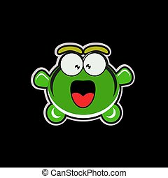 vector illustration of happy turtle.