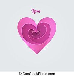 Happy Valentine's day, pink heart