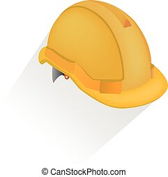 vector illustration of hardhat against white background