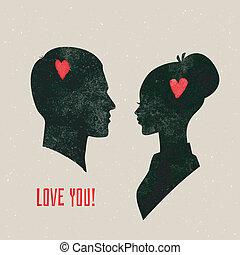 He & She - Vector illustration of He & She
