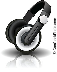 Vector illustration of headphones