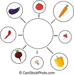 Vector illustration of healthy eating infographics with icons.