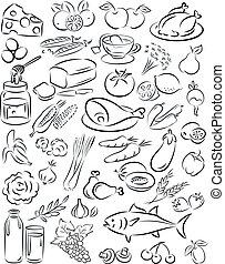 healthy food - vector illustration of healthy food...