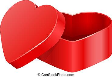 Vector illustration of heart box