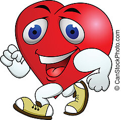 Heart carton exercise - Vector Illustration Of Heart carton...