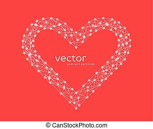 Vector illustration of heart frame