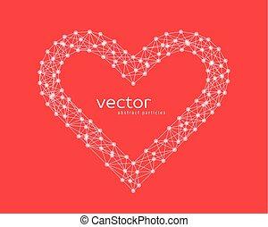 Vector illustration of heart frame