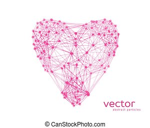 Vector illustration of heart on white background