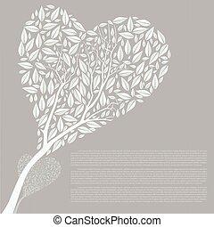 Vector illustration of heart tree