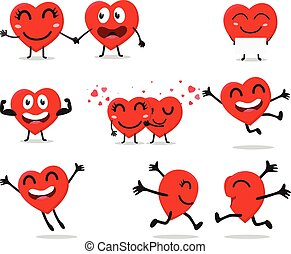 Heart Valentine cartoon character