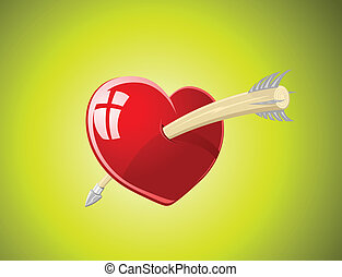 Vector illustration of heart with a