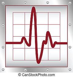 heartbeat - vector illustration of heartbeat on a cardiogram