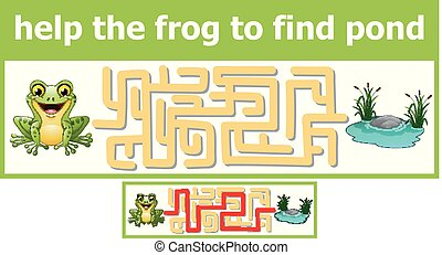Help the frog to find pond