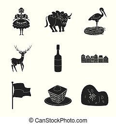 Vector illustration of heritage and landmarks icon. Set of heritage and travel stock vector illustration.