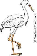 Heron cartoon - Vector Illustration Of Heron cartoon