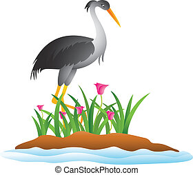 heron cartoon