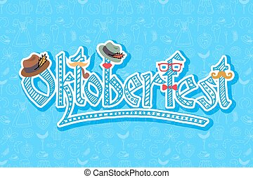 Vector illustration of hipster Oktoberfest elements set