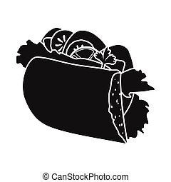 Isolated object of hoagie and burger symbol. Web element of hoagie and bun stock vector illustration.